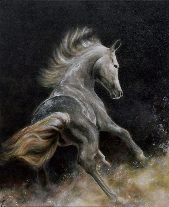 wild horse - Avril Art Painter