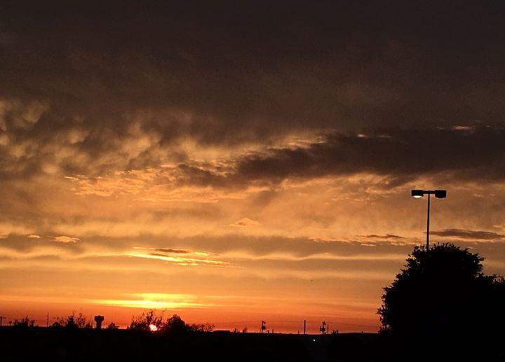 Fiery red sunset - Deborah Daniel