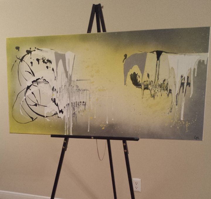 Yellow & Gray (Unnamed) - Heart of Gold Art by CM