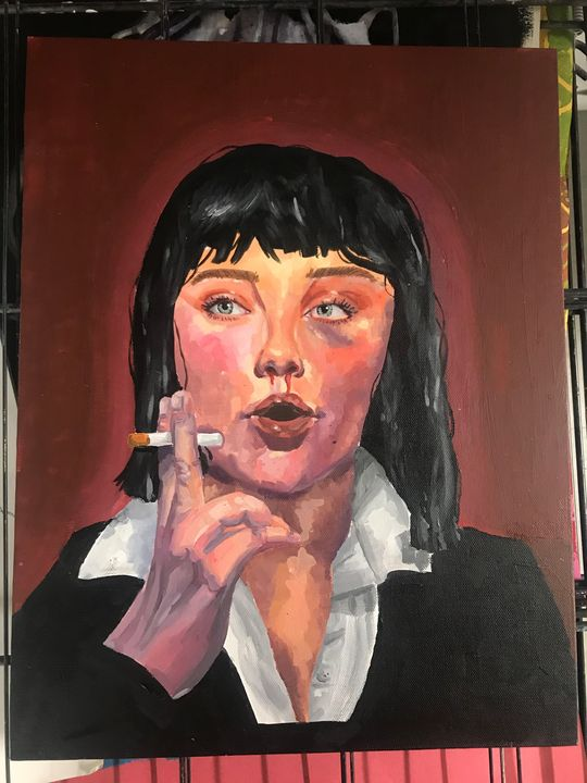 Pulp Fiction Inspired Portrait - Thea Schultz
