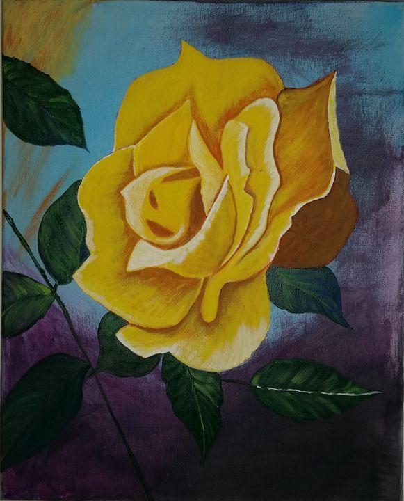 Yellow Flower - Manju Sinha's Painting's
