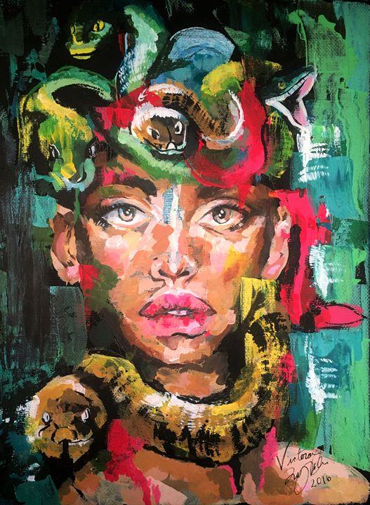 The Daughter of Phorkys - Vic's Art Corner