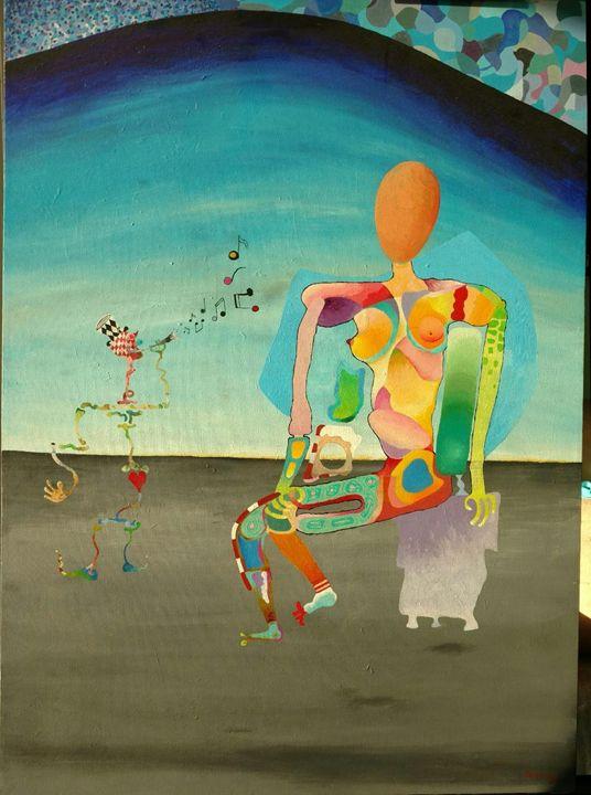 A Musing Woman - Gene's Art World
