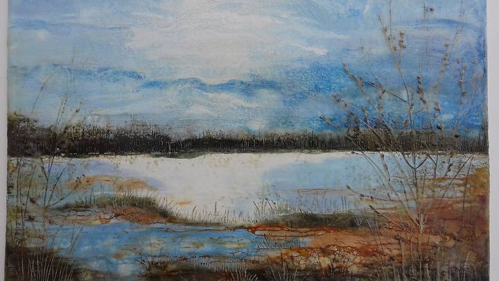 Nearby Lake - Falcon Art Studio