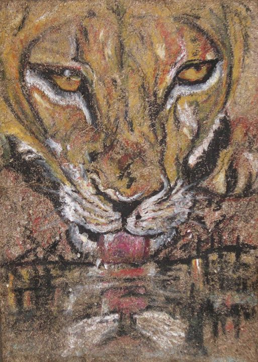 Lioness at Sundown - Art by Jenoire