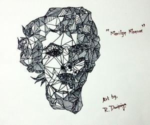 Line Art of Maryln Monroe
