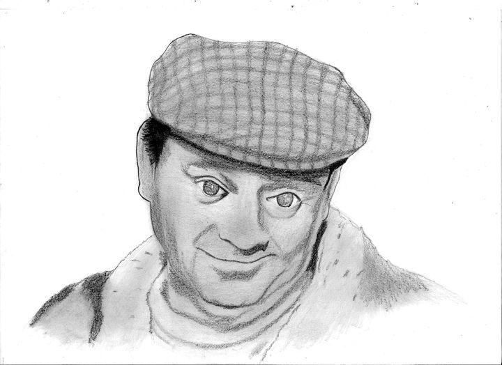 David Jason (Del Boy) pencil drawing - Nemanja