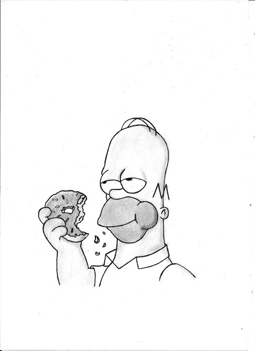 Homer - pencil drawing - Nemanja