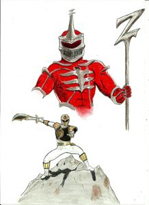 White Ranger vs Lord Zedd