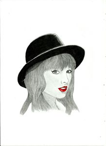 Taylor Swift - pencil drawing