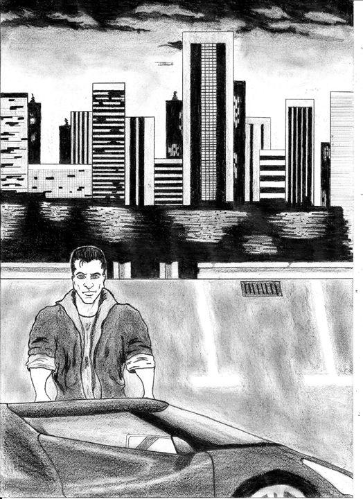 Action hero - pencil drawing - Nemanja