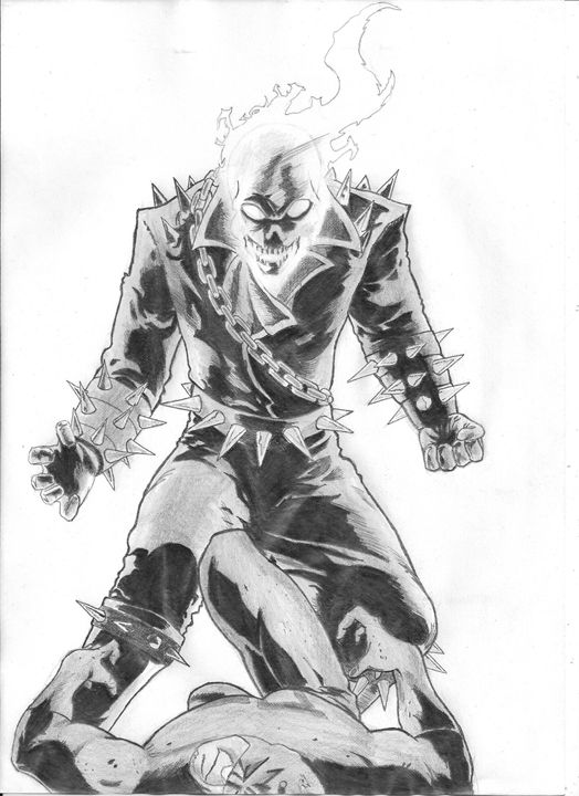 Ghost rider - pencil drawing - Nemanja