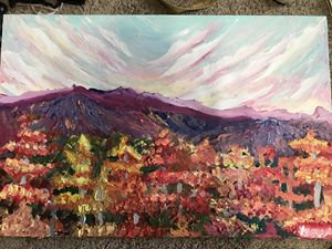 Mountain Scenery Oil Painting