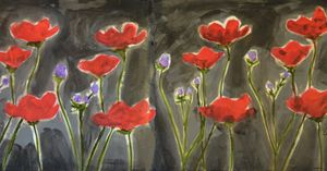 Poppies in Black