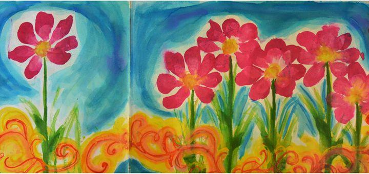 Pink Poppies - Heather Kindt Art