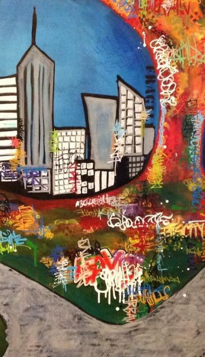 Graffiti City - Heather Kindt Art