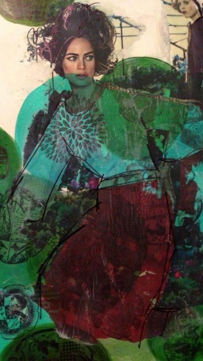 Green Circle Vogue - Heather Kindt Art