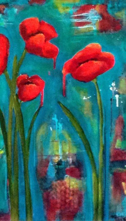 Dripping Poppy - Heather Kindt Art