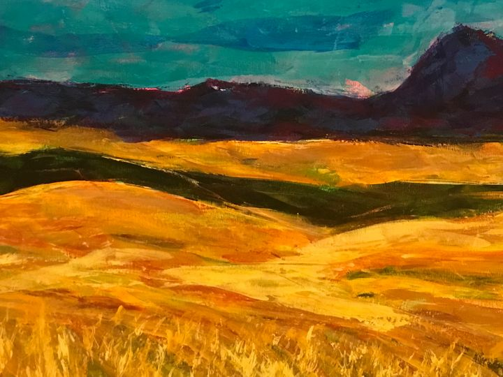 Field and Mountain - Heather Kindt Art