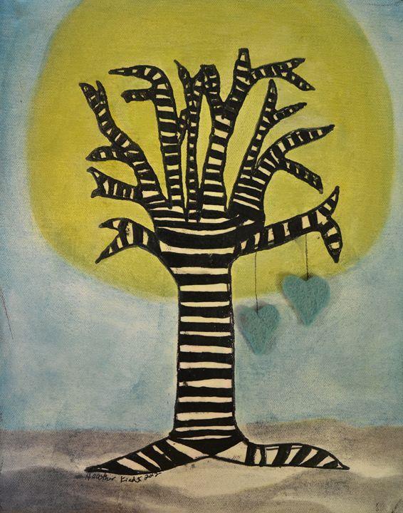 Striped Trunk - Heather Kindt Art