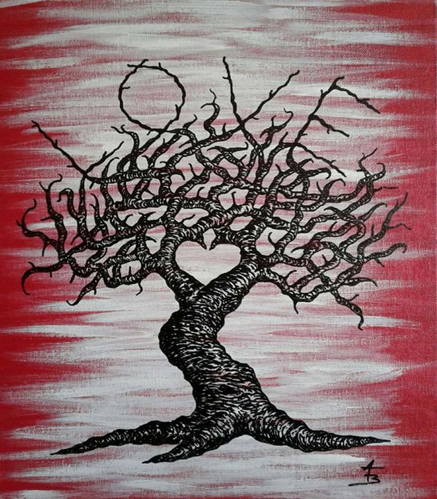Love- Love Tree - Love Tree Art Collection