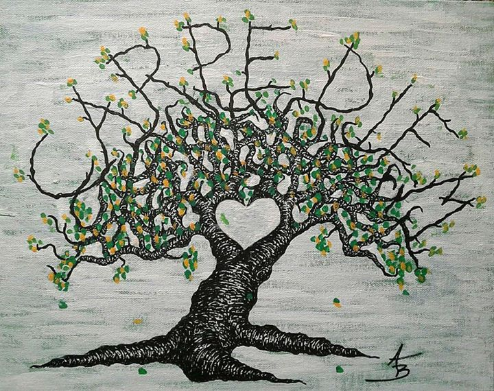 Carpe Diem Love Tree - Love Tree Art Collection