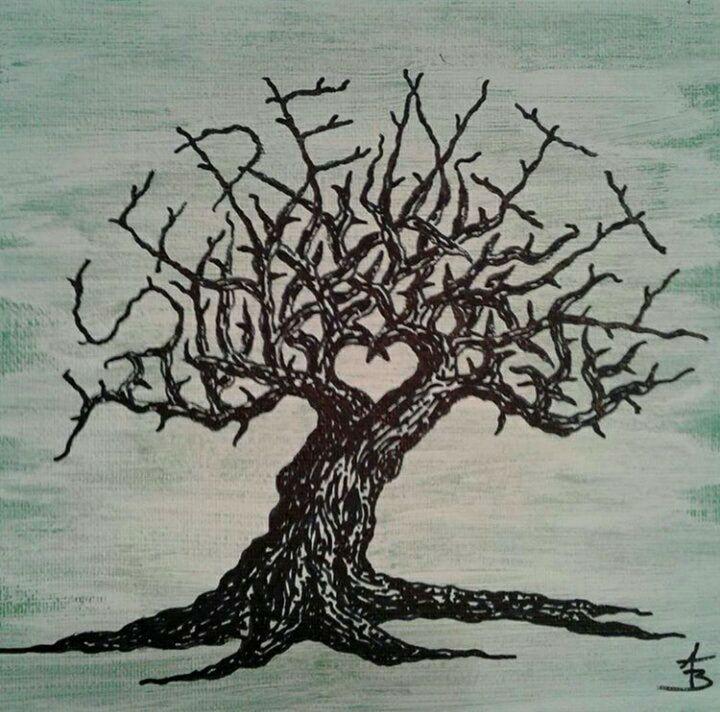 Serenity Love Tree - Love Tree Art Collection