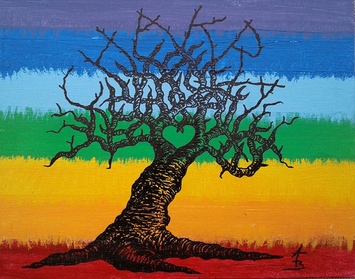 Chakra Love Tree - Love Tree Art Collection