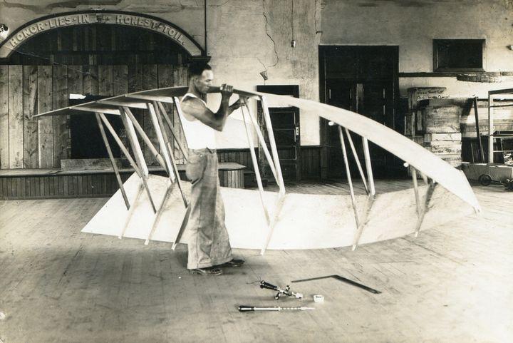 551 Veltie's first plywood boat 1934 - Pruitt Gallery