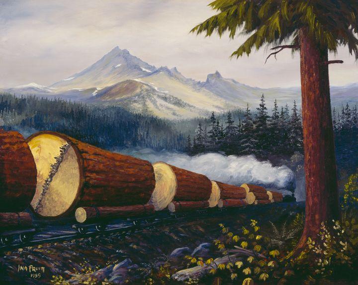 9 Oregon Log Train - Pruitt Gallery