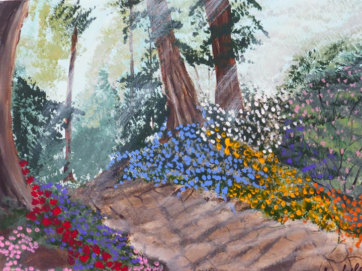 Garden Path - Paintings by K. Scofield