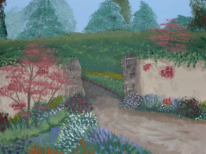 Tuscan Gate - Paintings by K. Scofield