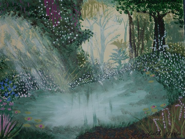 Sunlight on the Pond - Paintings by K. Scofield