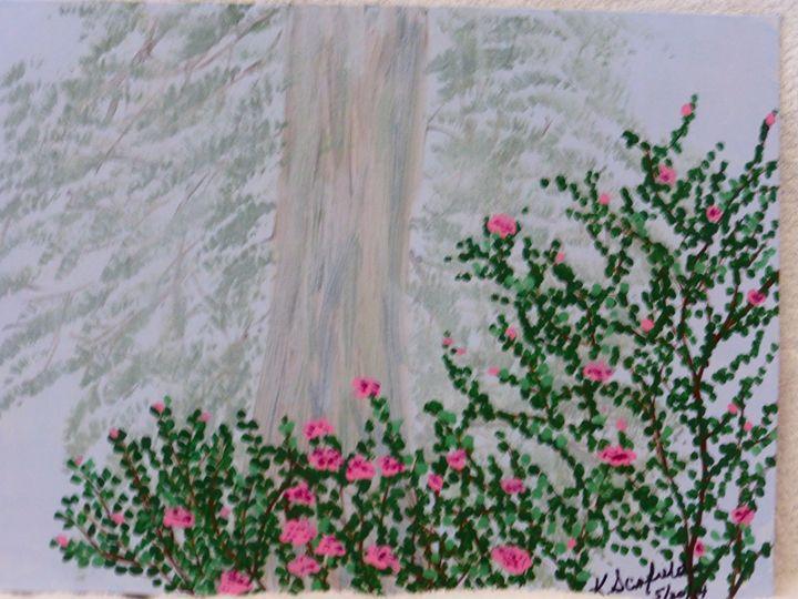 Tree in the Mist - Paintings by K. Scofield