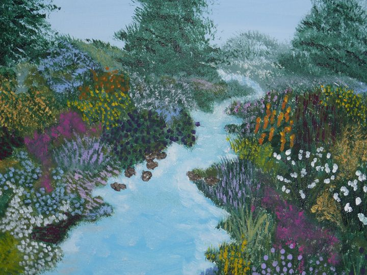 Mountain River - Paintings by K. Scofield