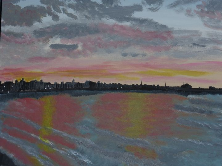 Sunset on the Beach - Paintings by K. Scofield