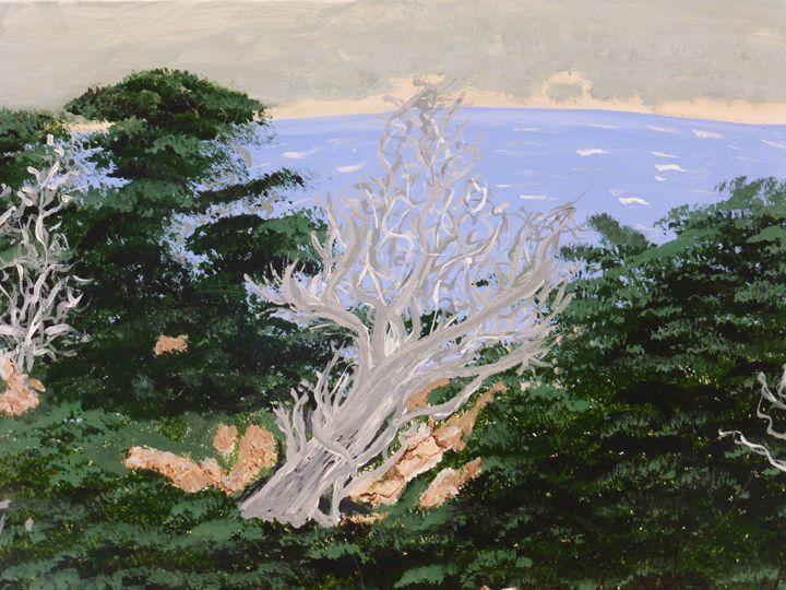 Cypress Trees - Paintings by K. Scofield
