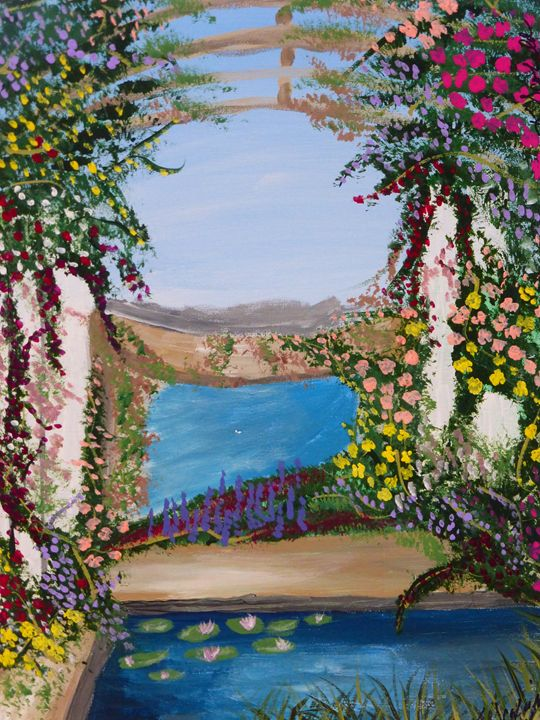 Greek Garden - Paintings by K. Scofield