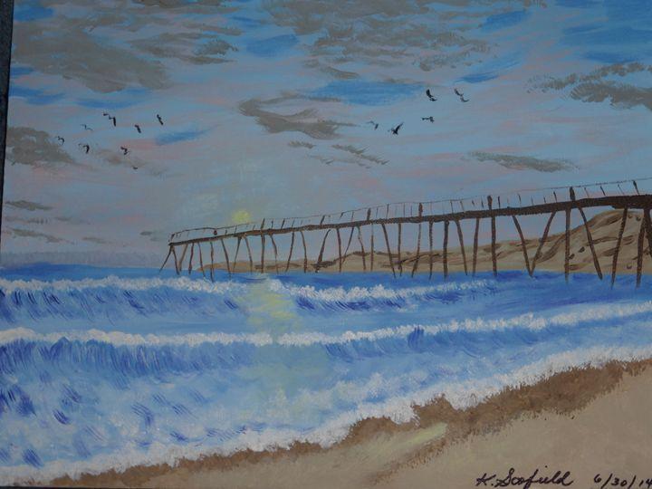 Pier on the Ocean - Paintings by K. Scofield