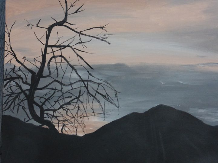 Tree at Sunset - Paintings by K. Scofield