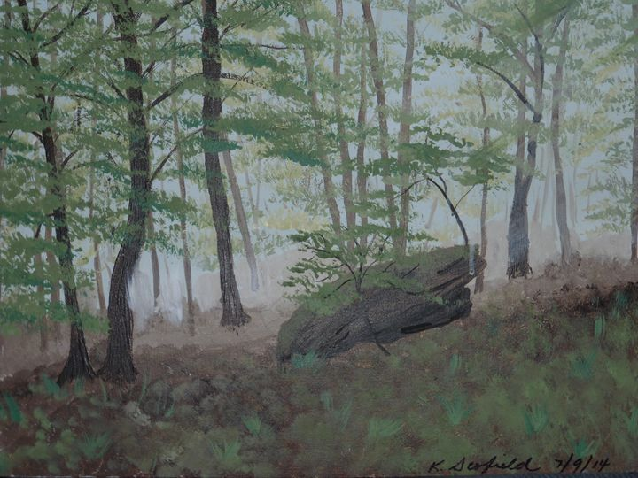 Deep Forest - Paintings by K. Scofield