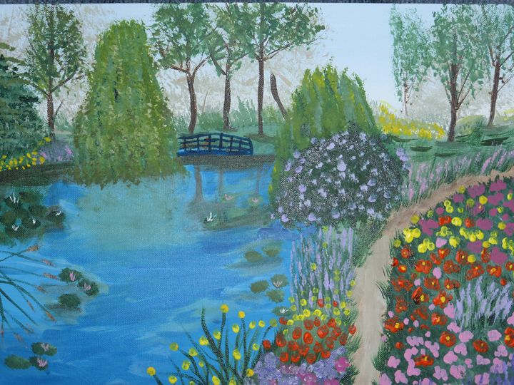 Bridge Over the River Garden - Paintings by K. Scofield