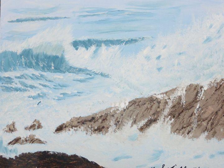 Roaring Sea - Paintings by K. Scofield