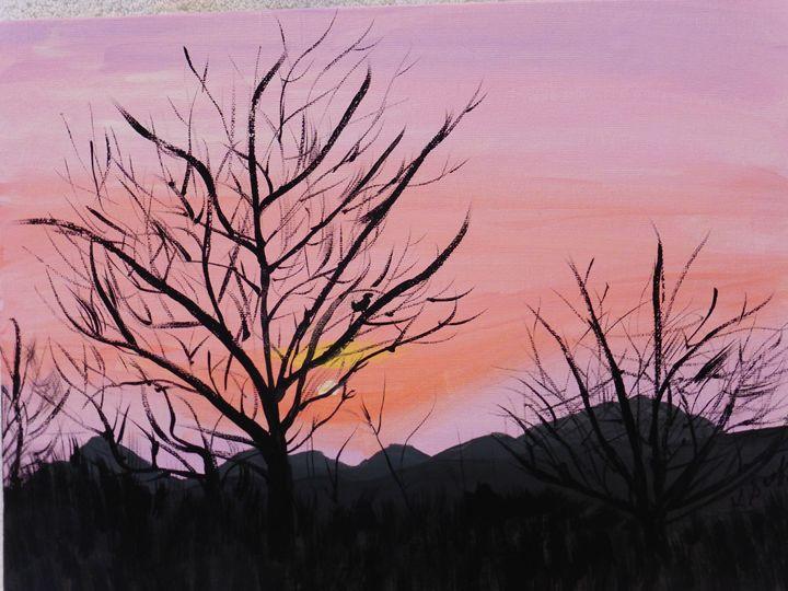 Desert Sunset - Paintings by K. Scofield