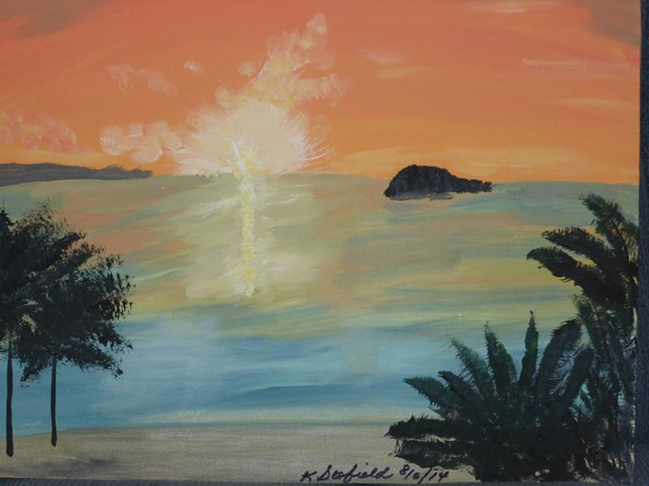 Tropical Sunset - Paintings by K. Scofield