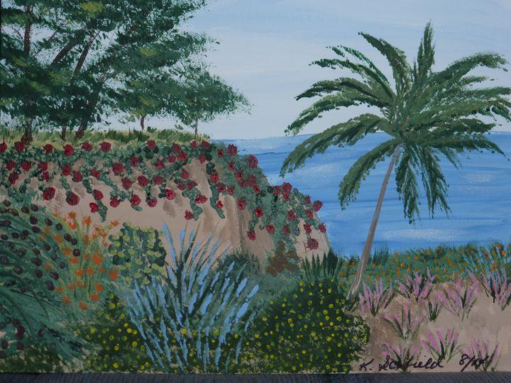 Tropical Vista - Paintings by K. Scofield