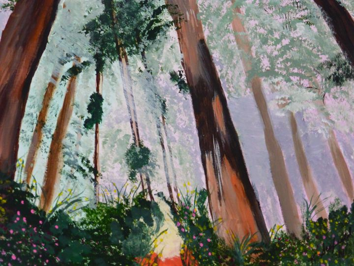 Forest Morning - Paintings by K. Scofield