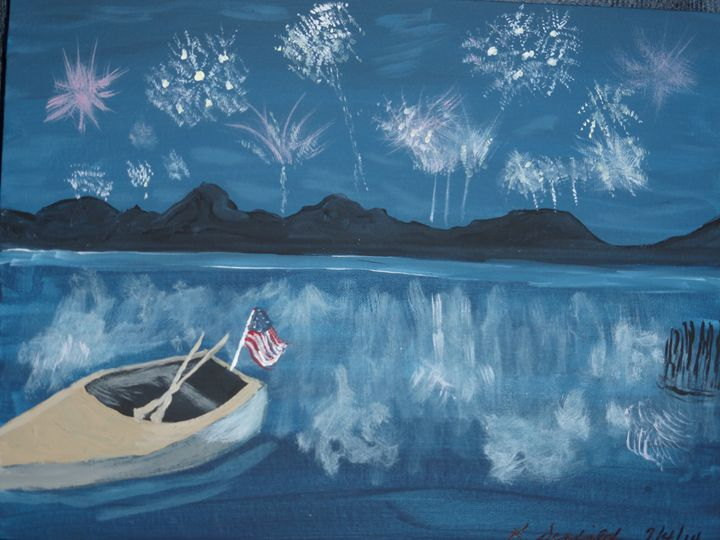 Fourth of July on the Lake - Paintings by K. Scofield