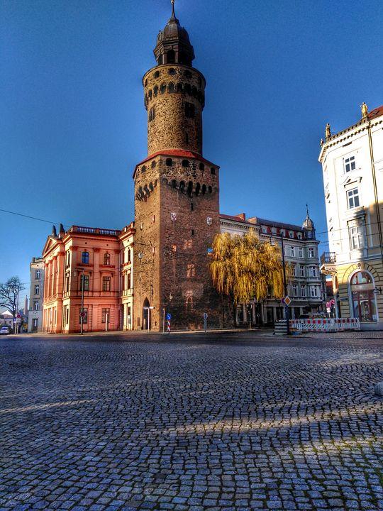 tower and  stones - EUGENE  JONAI