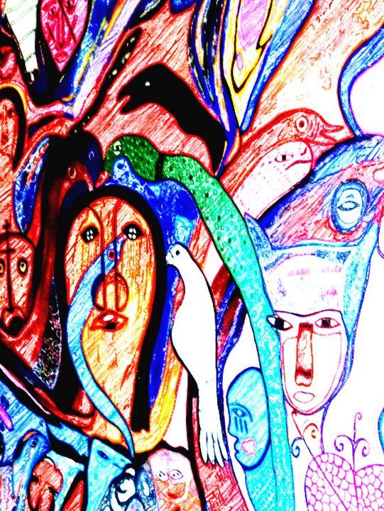 colourfull mureal - EUGENE  JONAI
